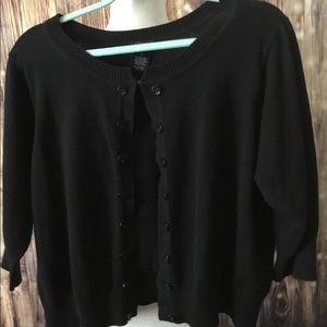 Black Shrug Sweater w/Hook and Ehe Closure